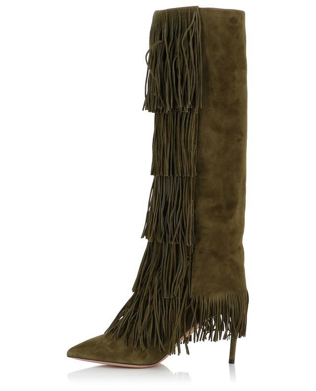 Stiefel aus Wildleder Shake AQUAZZURA