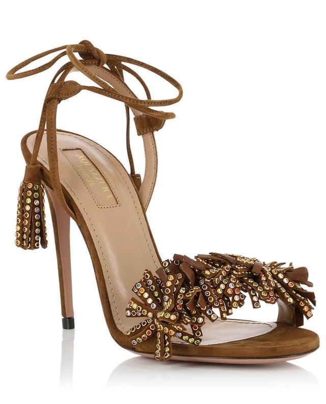 b45ace6c4 AQUAZZURA Wild Crystal suede sandals - Bongénie-Grieder