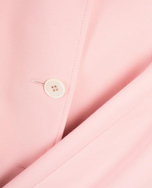 Short finely textured straight blazer WINDSOR