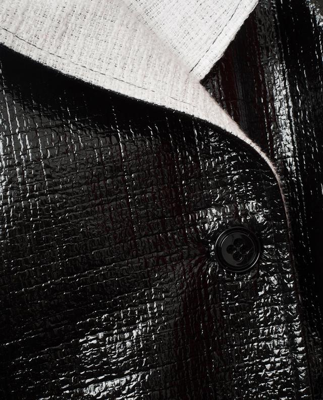 Trench en tweed verni Infinite Gloss SCHUMACHER