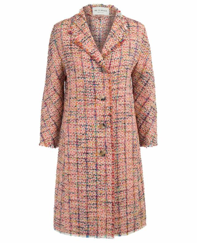 Manteau en tweed multicolore ETRO