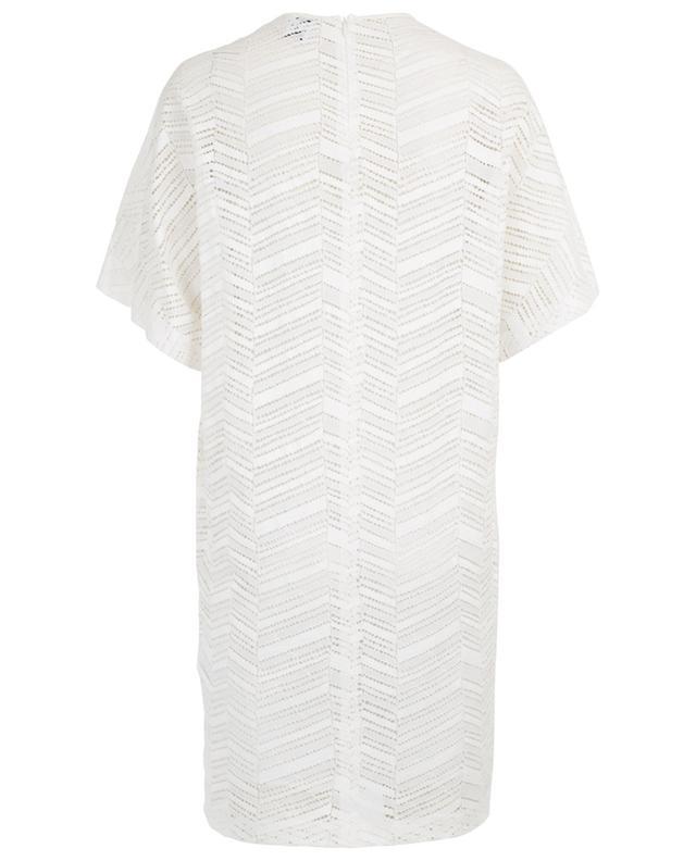 Kurzes Kleid aus Spitze mit Zickzackmotiv M MISSONI