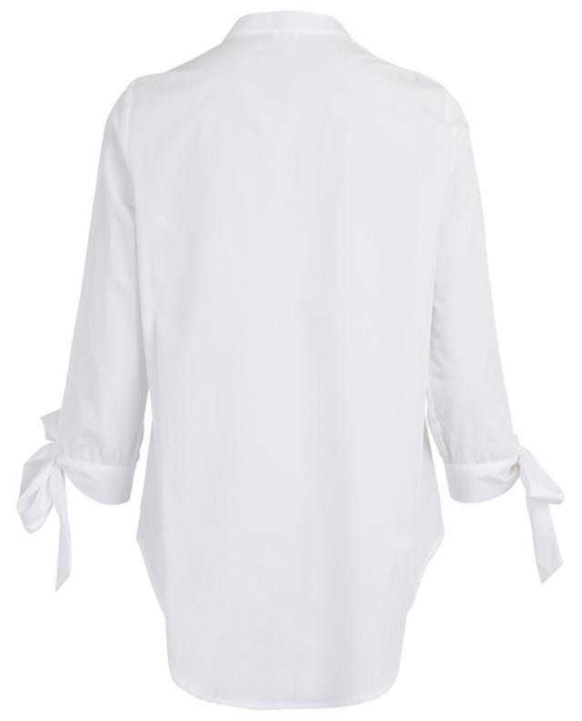Bluse aus Popeline mit Dreiviertelärmeln zum Binden THE SHIRT