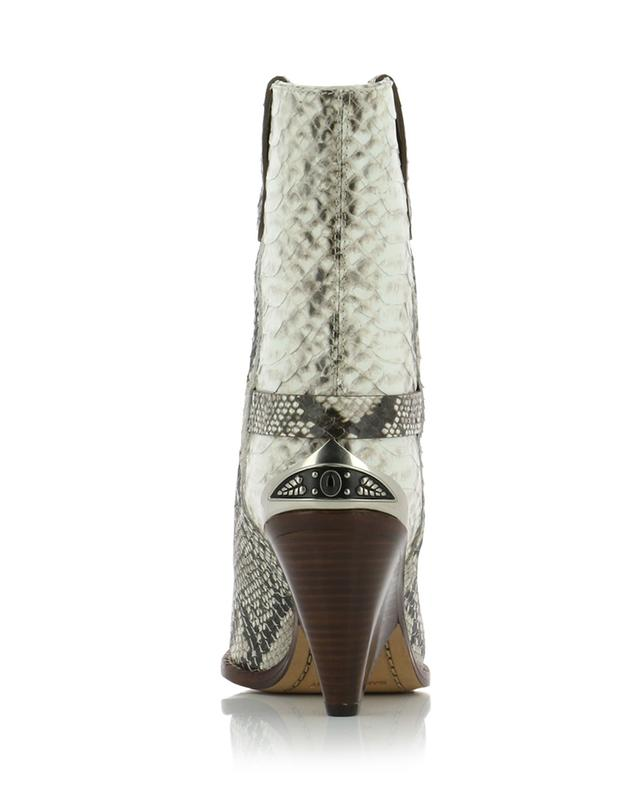 Lamsy snake skin effect leather booties ISABEL MARANT