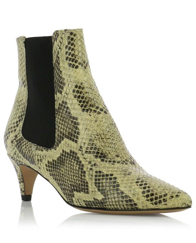 Detty snake skin effect leather ankle boots ISABEL MARANT