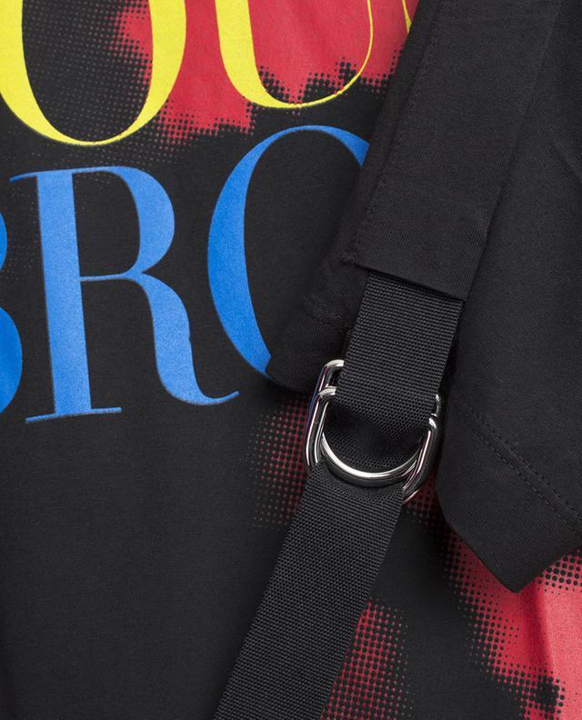 T-shirt en coton imprimé avec lanières DSQUARED2