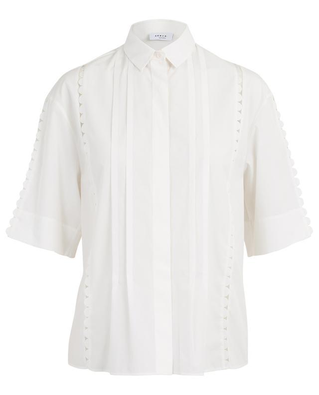 Chemise en coton avec détails festonnés AKRIS PUNTO