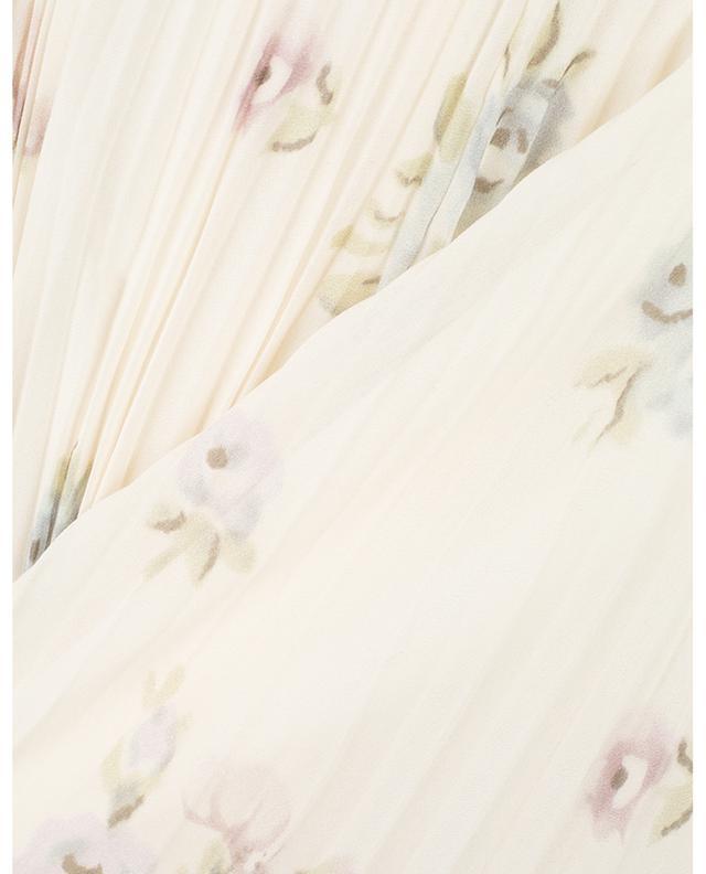 Jupe plissée fleurie en soie Abbot Vita JOSEPH