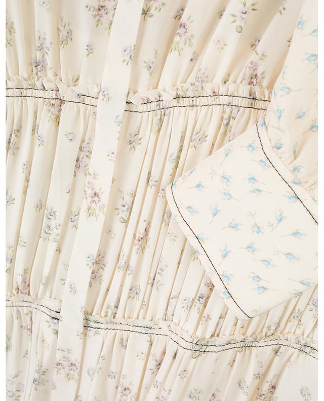 Robe longue en soie fleurie Tala Woolf Patchwork JOSEPH