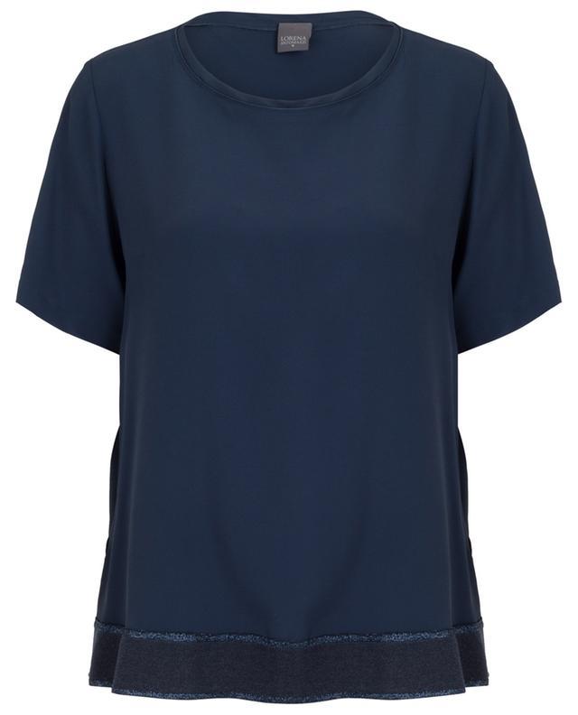 T-shirt fluide avec bande lurex LORENA ANTONIAZZI