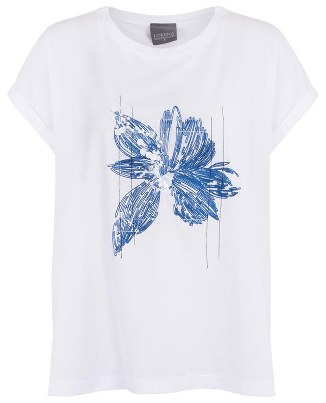 T-shirt oversize brodé fleur LORENA ANTONIAZZI