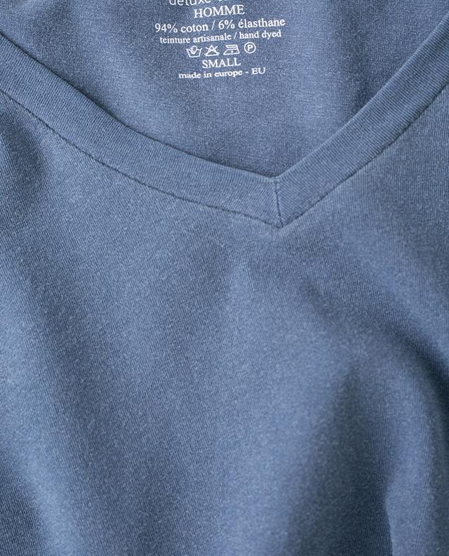 Stretch cotton V-neck T-shirt MAJESTIC FILATURES
