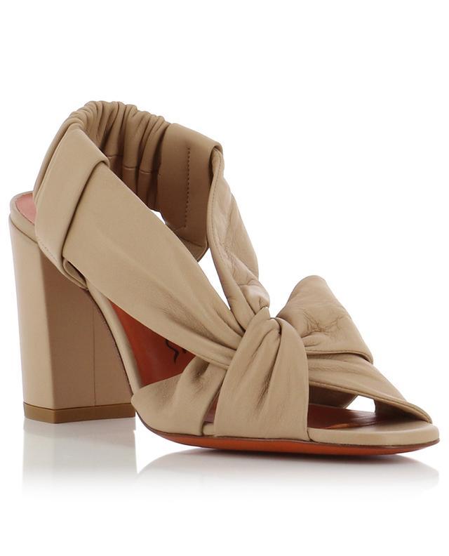 Sandales à talon et lanières torsadées SANTONI