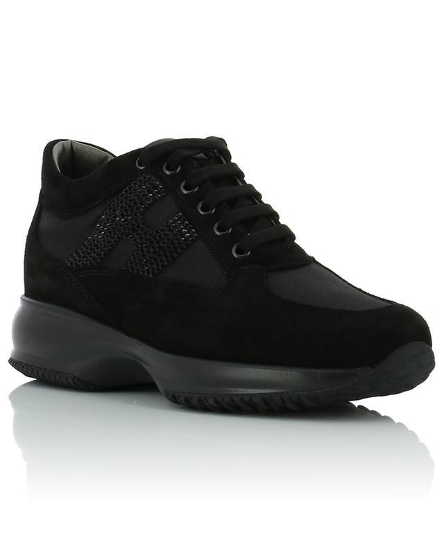Sneakers aus Wildleder und Stoff Interactive H Strass HOGAN