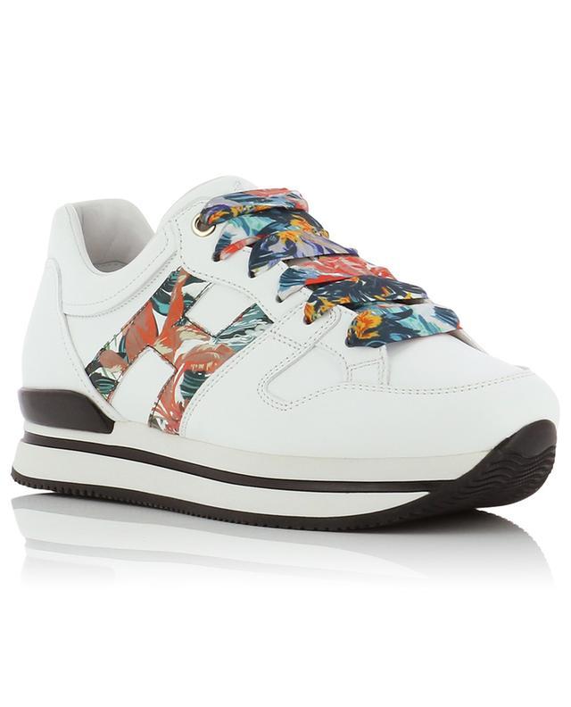 Sneakers aus Leder mit Blütendetail H222 Botanical HOGAN