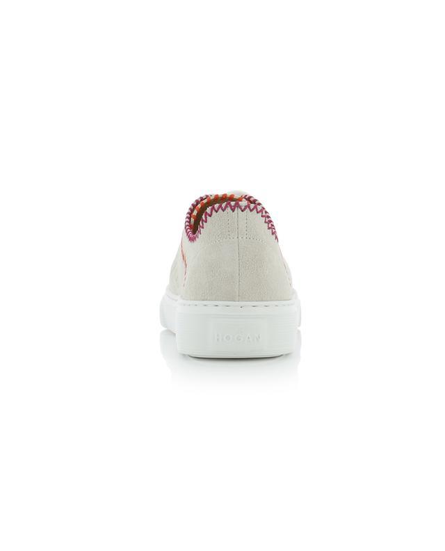 Baskets en daim perforé surpiquées H365 HOGAN