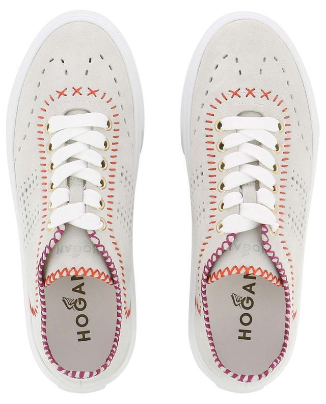 Sneakers aus perforiertem Wildleder mit Steppnähten H365 HOGAN