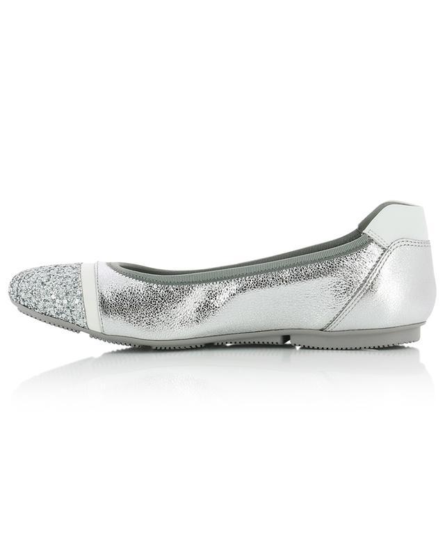 Ballerinas aus genarbtem Leder mit Glitter H144 HOGAN