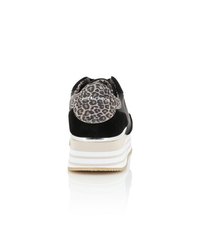 Baskets multi-matière détail léopard Dynamic CRIME