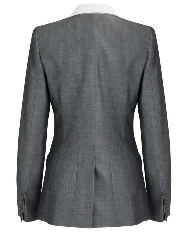 Taillierter Blazer mit Kragen aus Leder BARBARA BUI