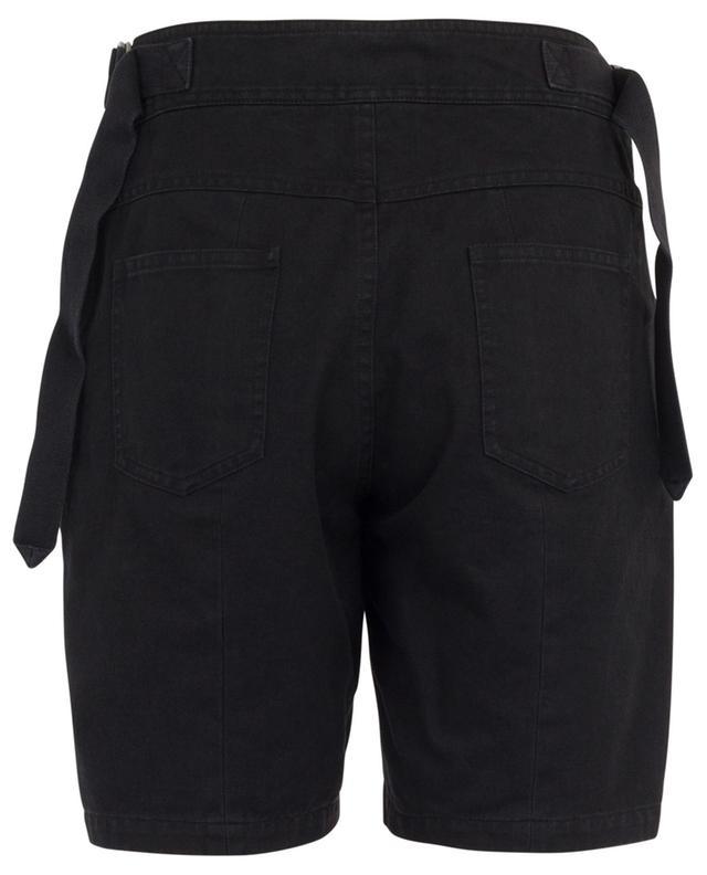 Shorts mit Schnürung aus Baumwolle und Ramie SAINT LAURENT PARIS