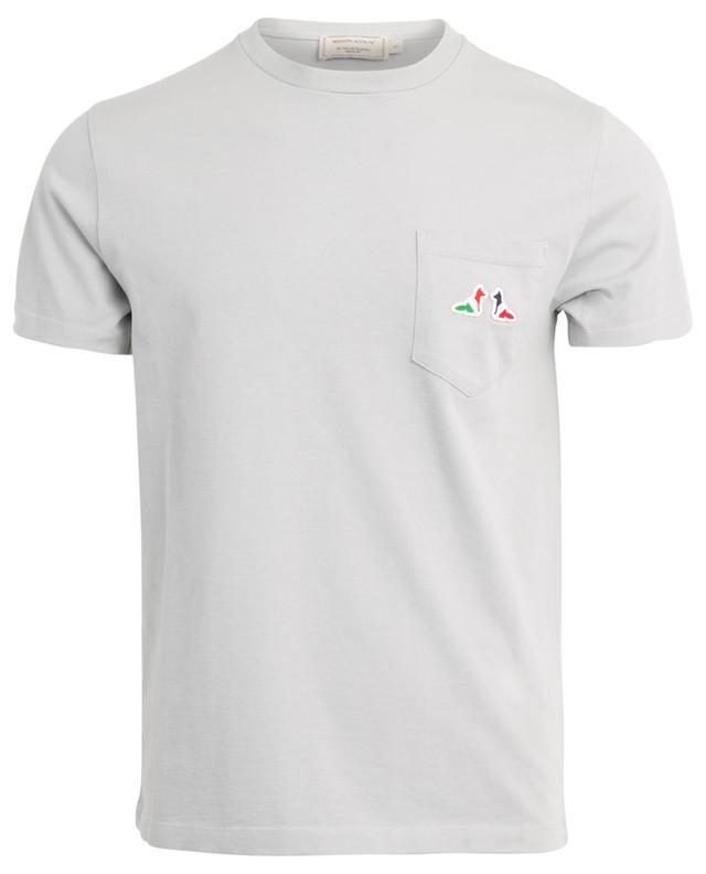 T-Shirt aus Baumwolle Resting Fox Patch MAISON KITSUNE