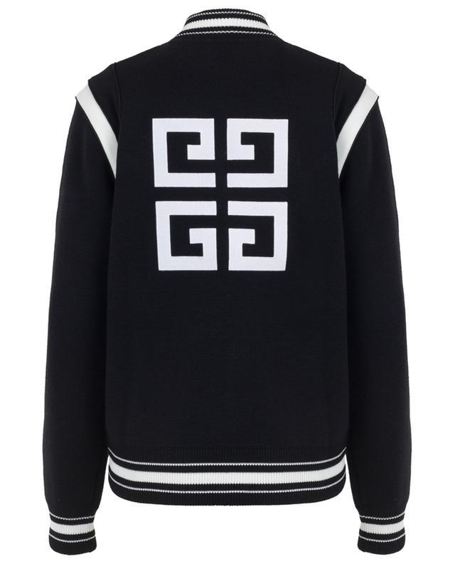 4G logo knit bomber jacket GIVENCHY