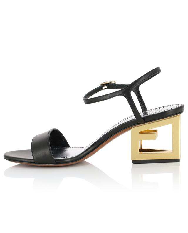 Gold G Triangle Heel leather sandals GIVENCHY