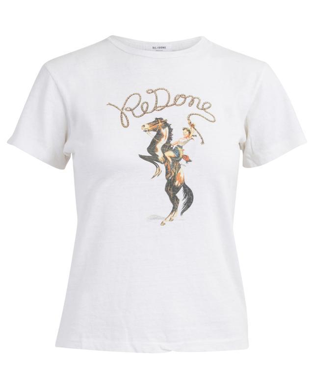 T-Shirt aus Baumwolle mit Vintage-Print RE/DONE