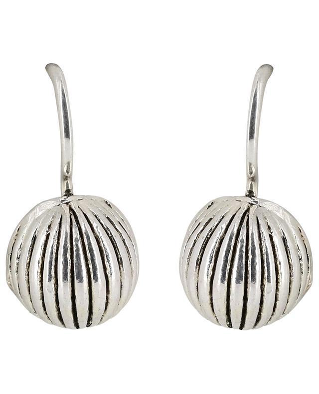 Boucles d'oreilles cannelées Metal UNE LIGNE