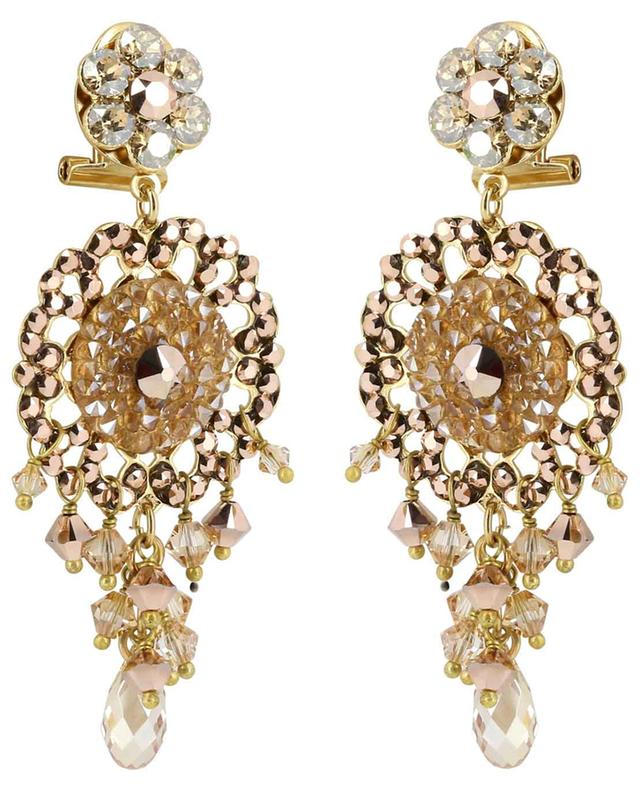Chiara crystal clad ear danglers SATELLITE