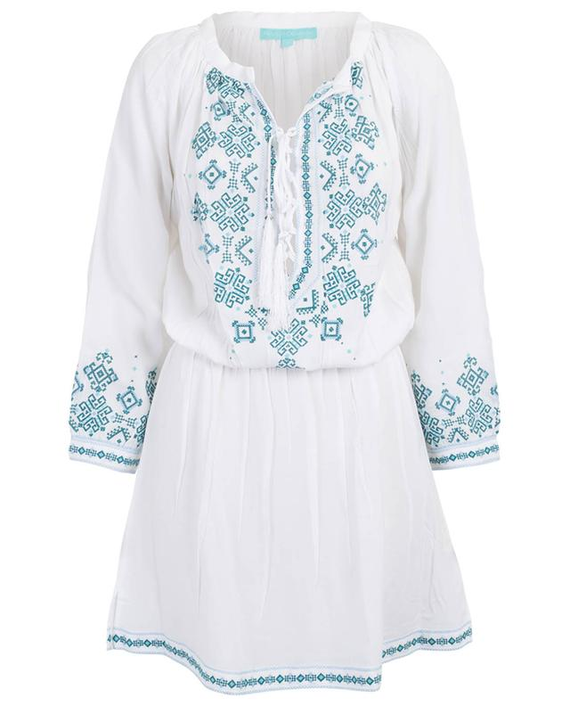 Nadja embroidered long-sleeved dress MELISSA ODABASH