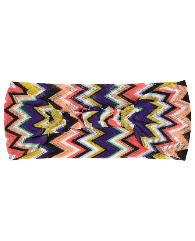 Zigzag pattern knit headband MISSONI MARE