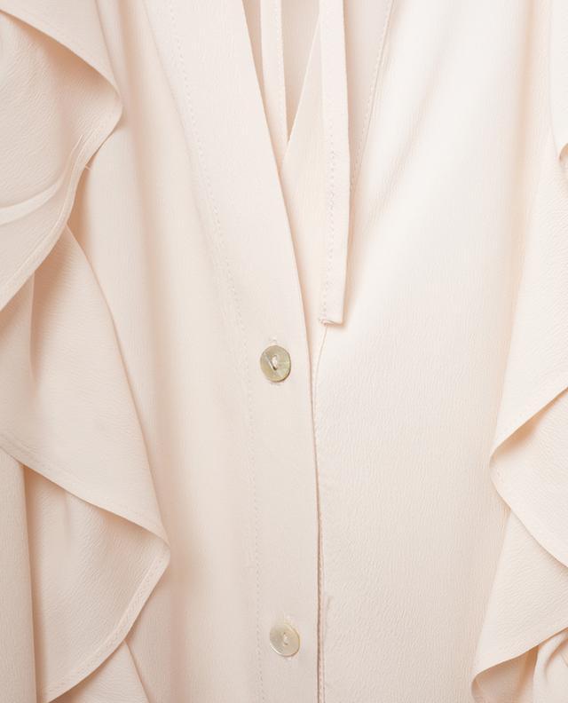 Accorto ruffled silk blend shirt IBLUES