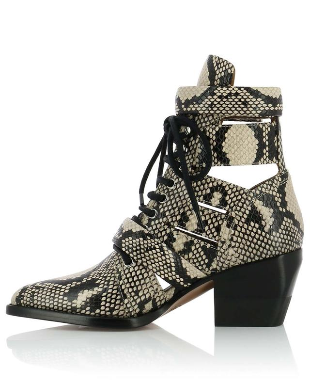 Rylee python embossed leather ankle boots CHLOE