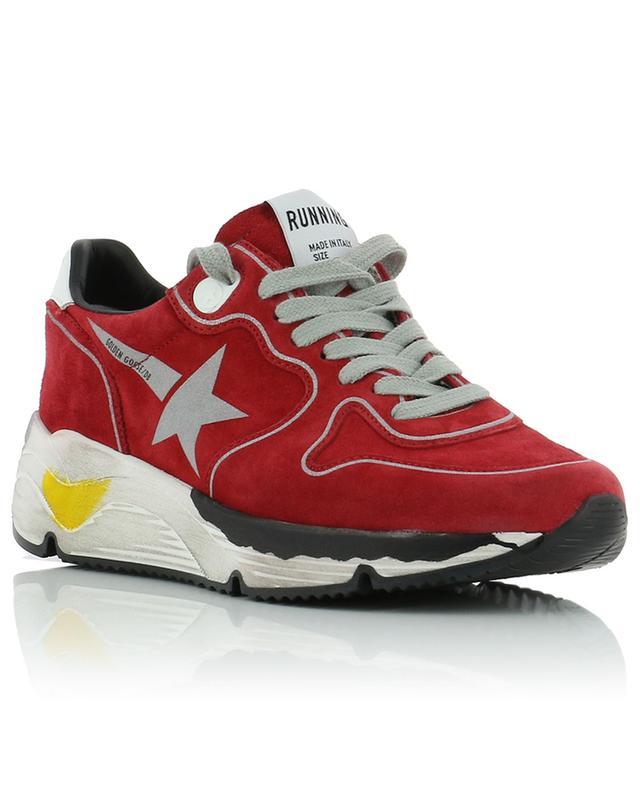 Running silver star suede sneakers GOLDEN GOOSE