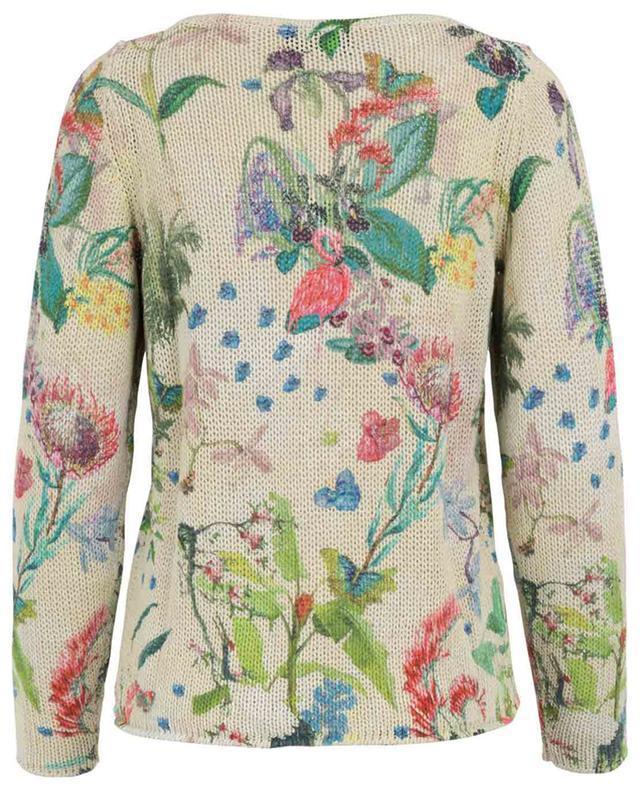 Pull en coton et lin imprimé fleurs PRINCESS