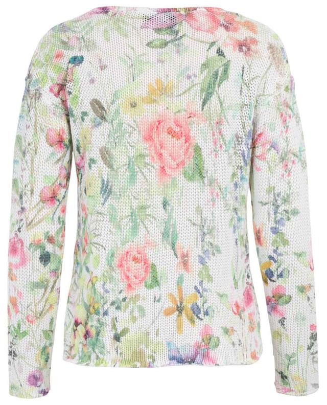 Pull fleuri en coton et lin PRINCESS