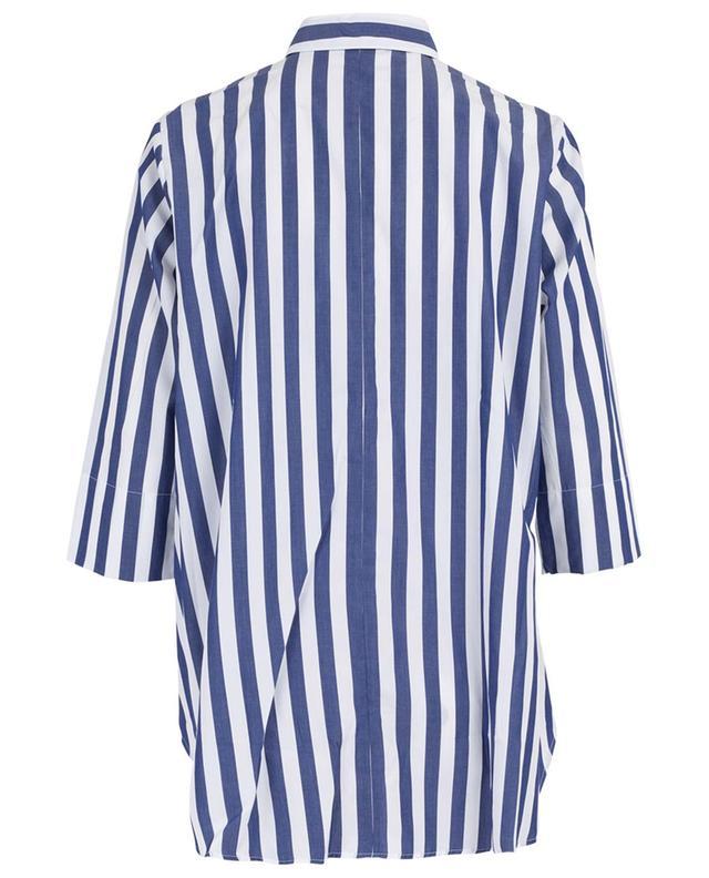 Chemise trapèze rayée à manches trois-quarts ARTIGIANO