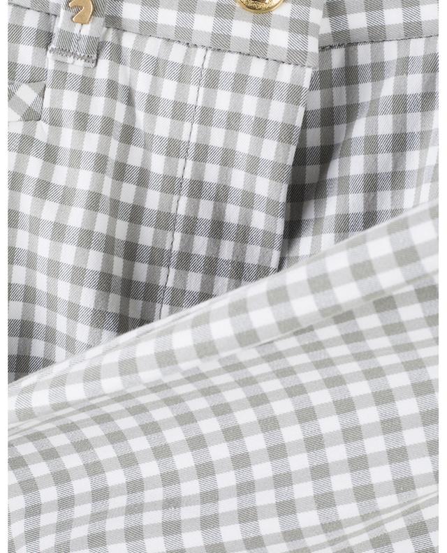 Pantalon à carreaux en coton mélangé Menton PAMELA HENSON