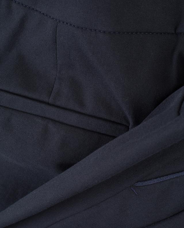 Pantalon uni en coton stretch Brera PAMELA HENSON