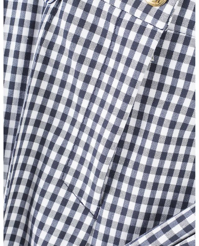 Pantalon droit à carreaux en coton stretch Rimini PAMELA HENSON
