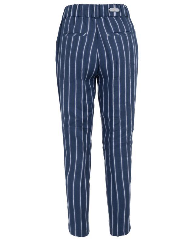 Pantalon droit rayé en lin Cervia PAMELA HENSON