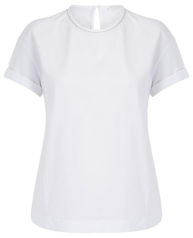T-shirt en jersey brodé de Monile BRUNELLO CUCINELLI