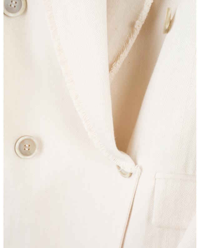 Doppelreihiger Mantel mit ausgefransten Kanten BRUNELLO CUCINELLI
