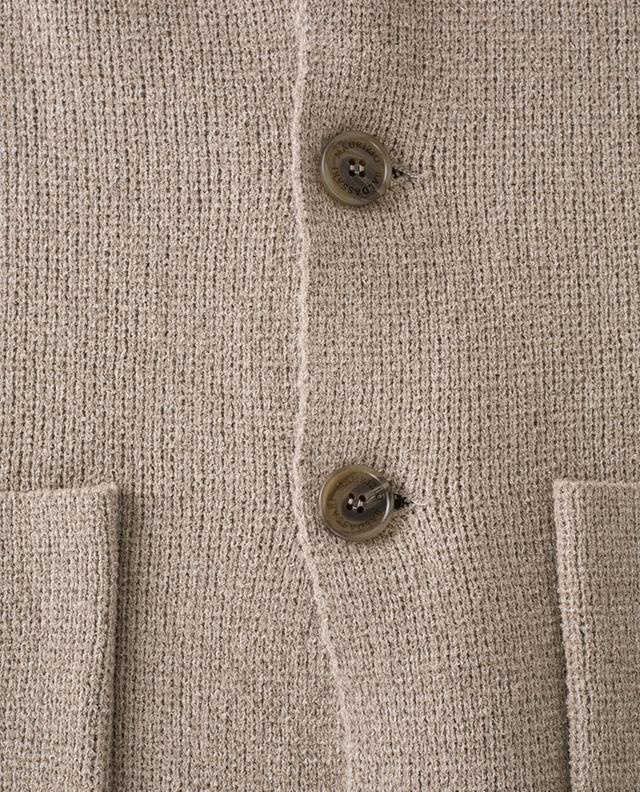 Lincoln supple mottled knit cotton blazer MAURIZIO BALDASSARI