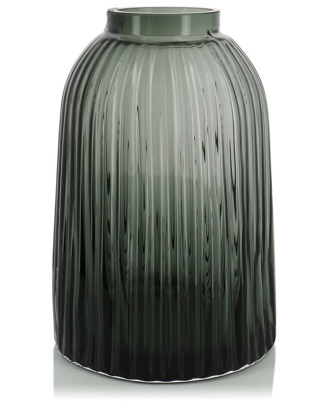 Pleat mouthblown glass vase LSA