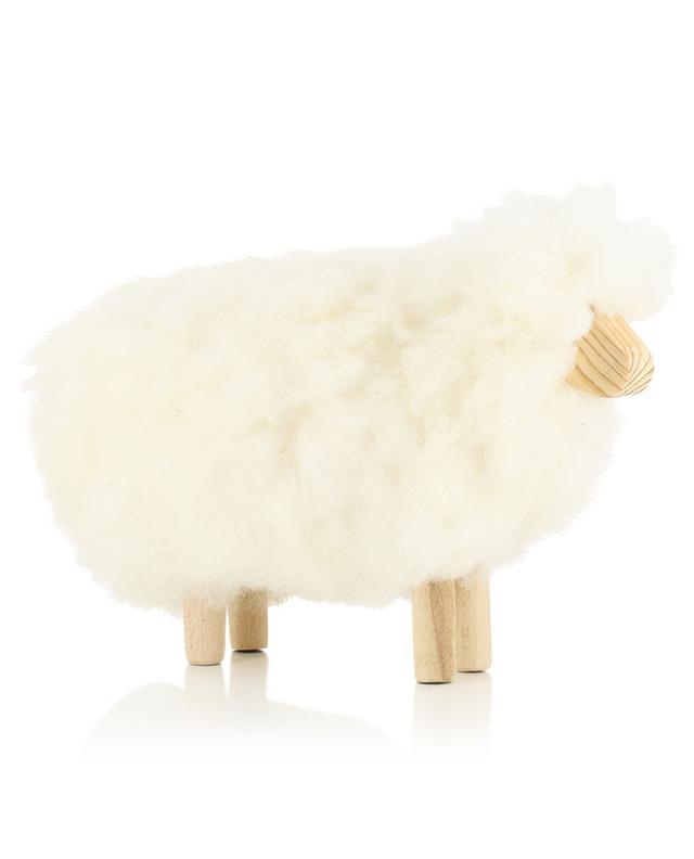 Kleines Schaf aus Wolle und Holz MOT1 FOUTAZUR