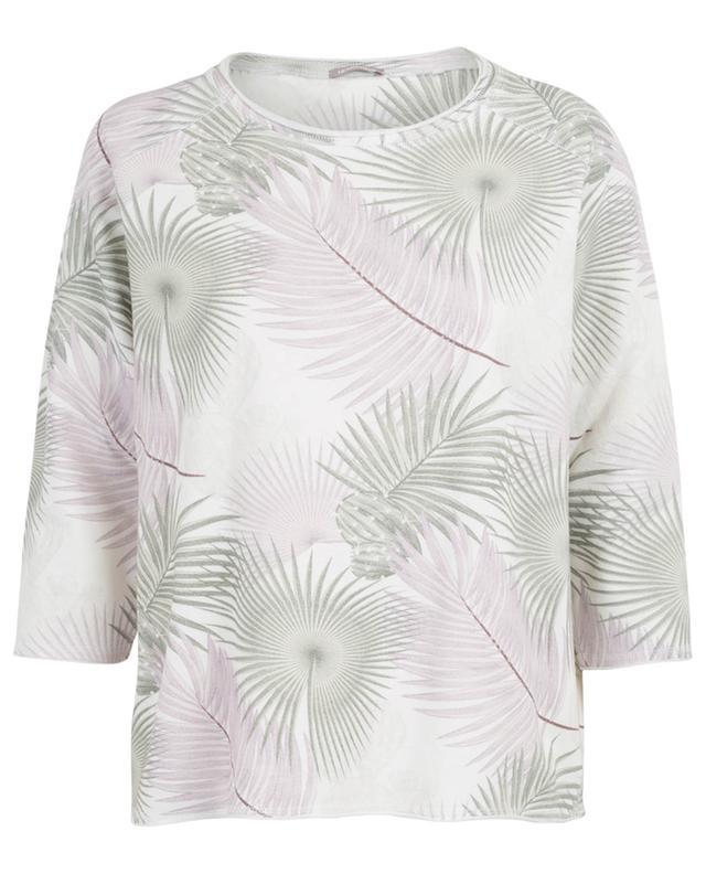 Debora leaf print sweatshirt HEMISPHERE