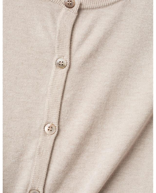 Kurzer Cardigan aus Baumwolle, Kaschmir und Lurex HEMISPHERE